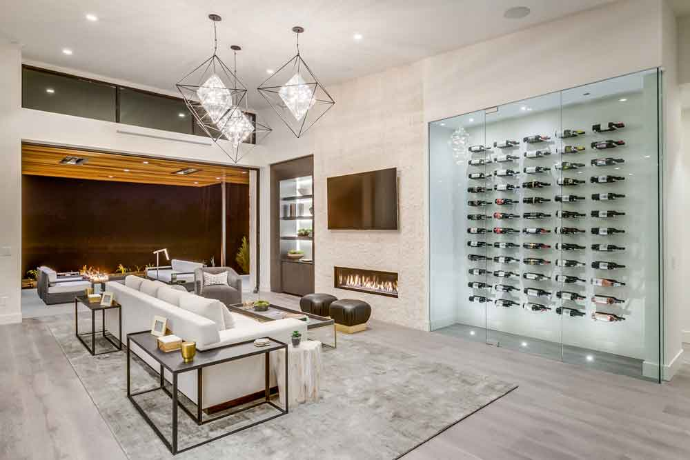 Cool 5 Amazing Modern Home Wine Cellars And Walls Vintageview Interior Design Ideas Tzicisoteloinfo