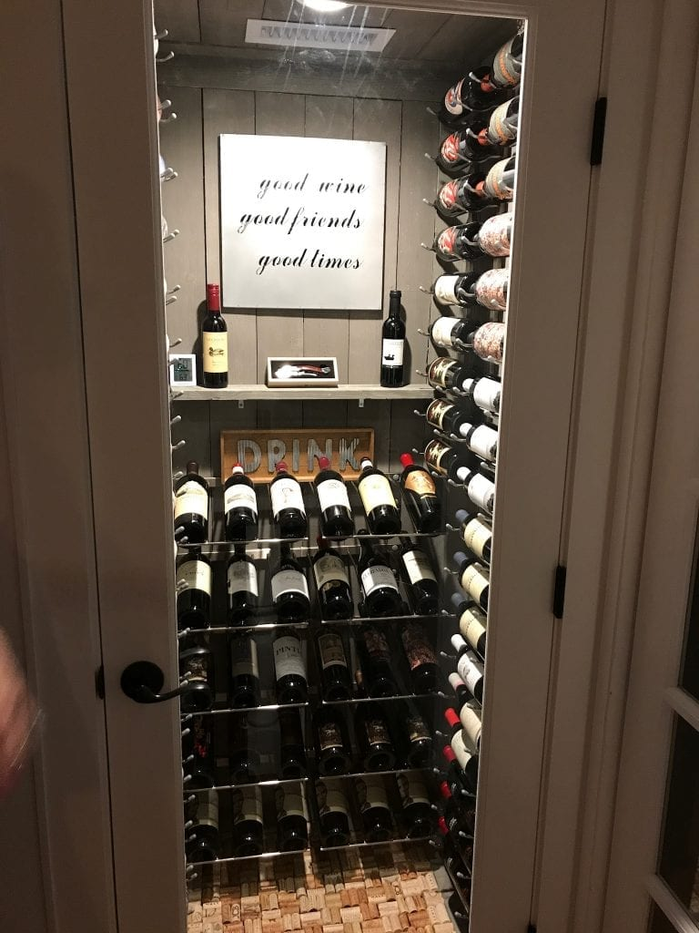 Turning a water heater closet into a custom wine cellar in Turn closet into wine cellar
