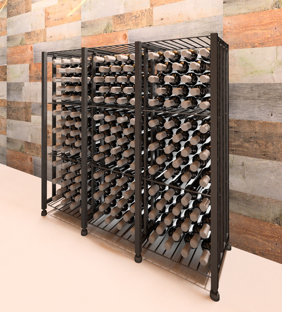 crate wine rack amp crate bin 48 192 bottles vintageview 30215