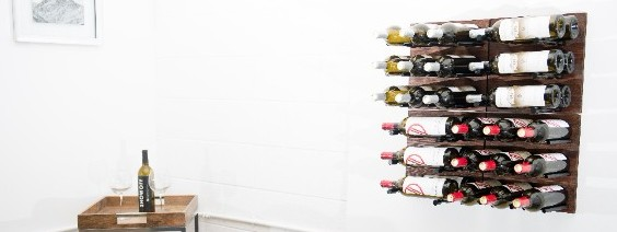 Grain + Rod Metal and Wood Wine Wall