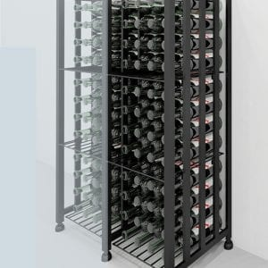 Case & Crate Bin Extension for expanded wine bottle capacity