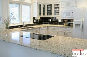 natural quartz kitchen