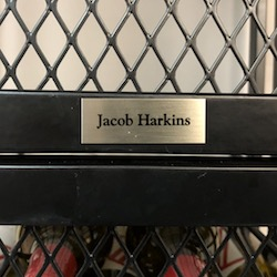 Engraved Nameplate-Silver Plate - Dark