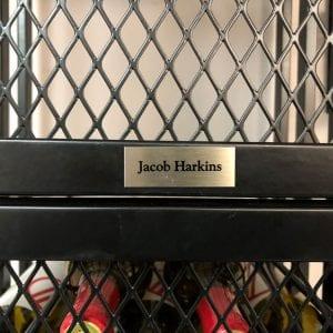 Engraved Metal Nameplate (adhesive)