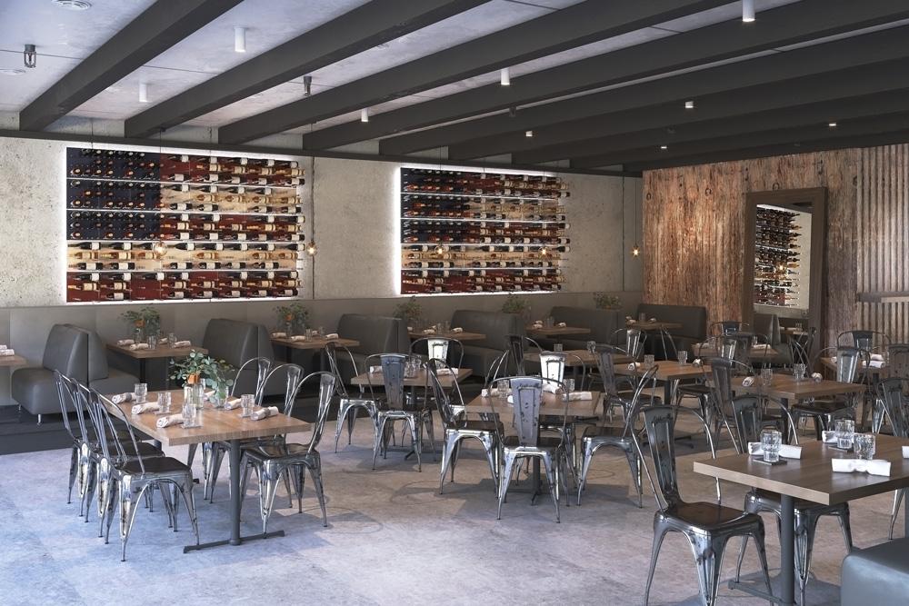 American Flag Wine Cellar Design with Grain + Rod