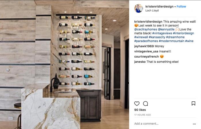 Kristen Ridler Designs Custom Wine Cellar
