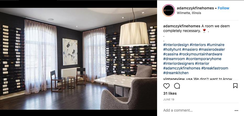 Adam Czyk Fine Homes Wine Cellar
