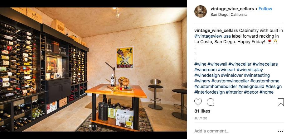 Vintage Wine Cellars Custom Cabinet