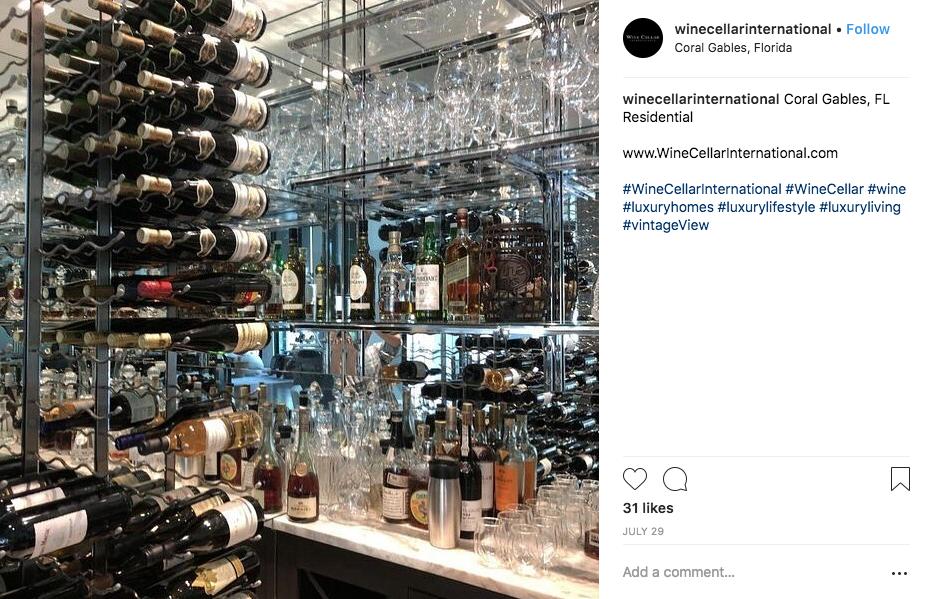 wine cellar international wet bar
