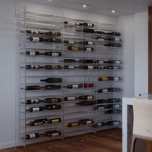 Wine Tower in a 2-bottle deep configuration