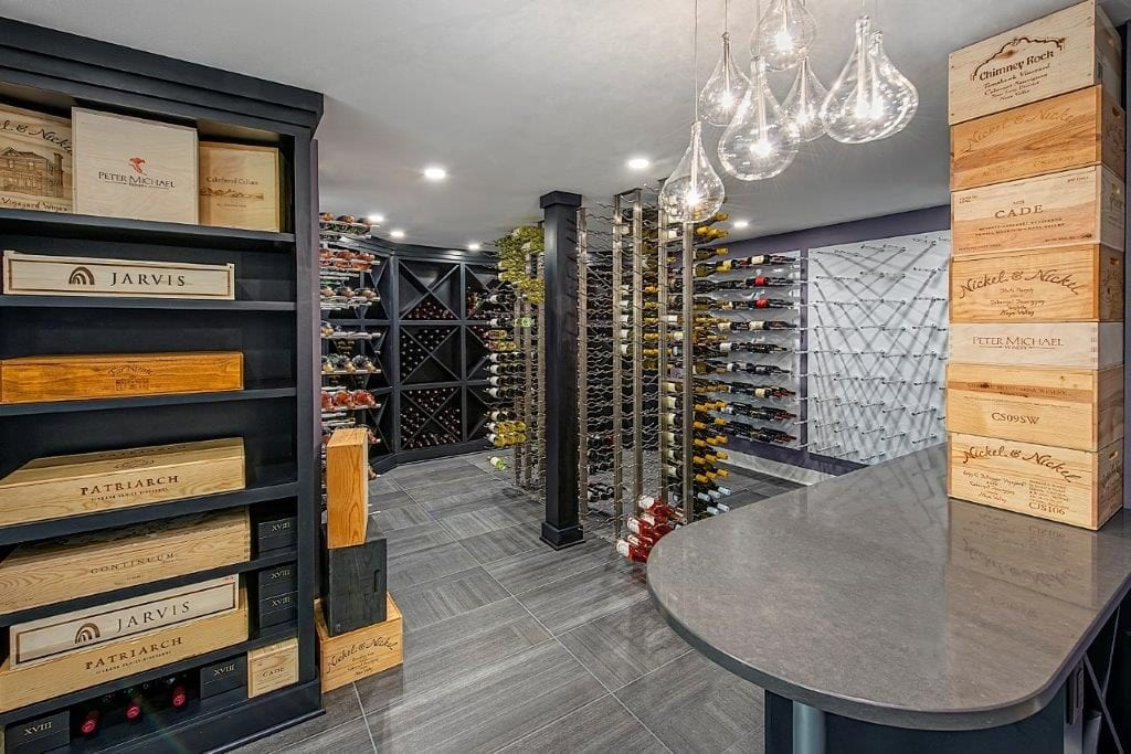 ab and k remodeling wine room