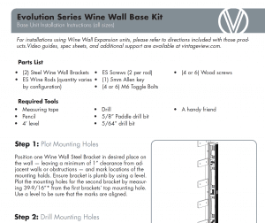 Evolution Wine Wall Instructions