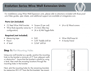 wine wall ext instructions