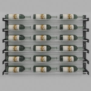 "Evolution Series Wine Wall 30"", 18-Bottle Wine Rack with Chrome Wine Rods"