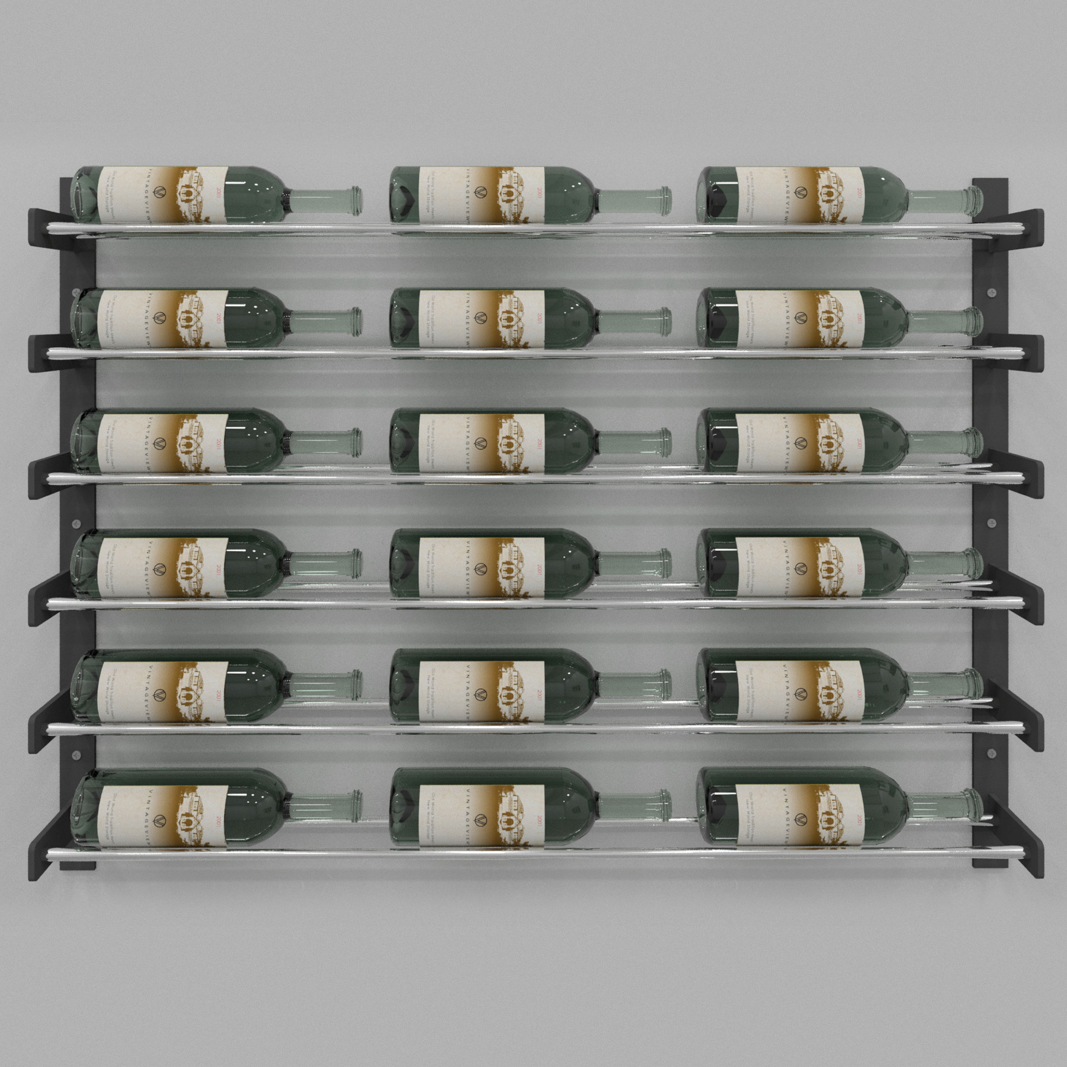 Evolution Series Wine Wall 30 Wall Mounted Wine Rack 18 To 54 Bottles