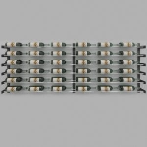 """Evolution Series Wine Wall 30"""" with Extension Kit (36 bottles) with Chrome Wine Rods"""