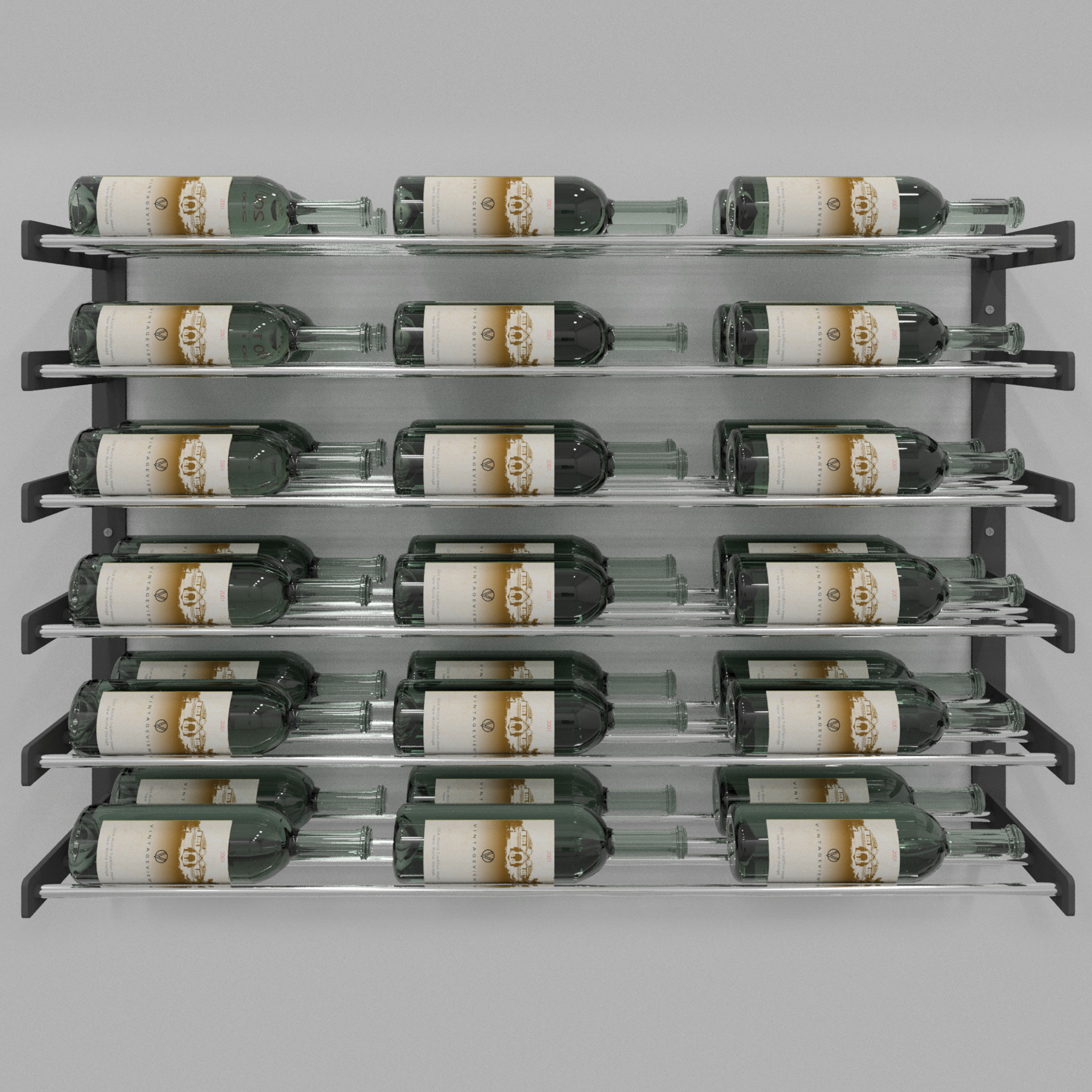 Evolution Series Wine Wall 30 Quot Wall Mounted Wine Rack 18
