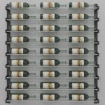 "Evolution Series Wine Wall 45"", 27-Bottle Wine Rack with Chrome Wine Rods"