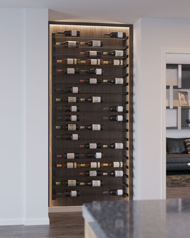 Evolution Series Wine Wall 45 Quot Wall Mounted Wine Rack 27