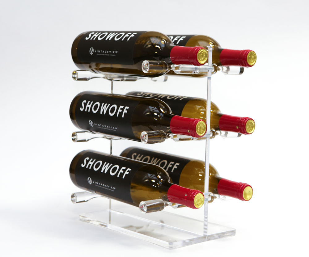 VintageView Mini Acrylic Tabletop Wine Rack