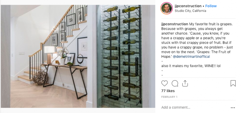 jjp construction glass wine cellar