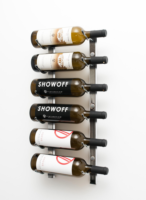 W Series 2 Wall Mounted Metal Wine Rack 6 To 18 Bottles Vintageview