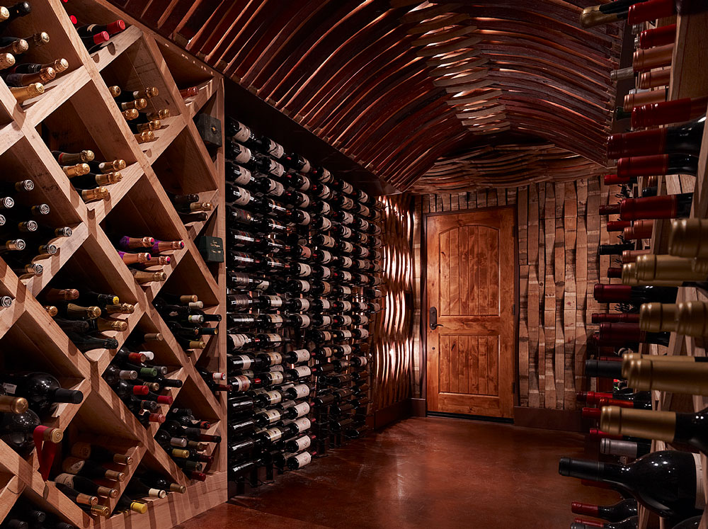 Stave Cellar designed by Wine Racks America