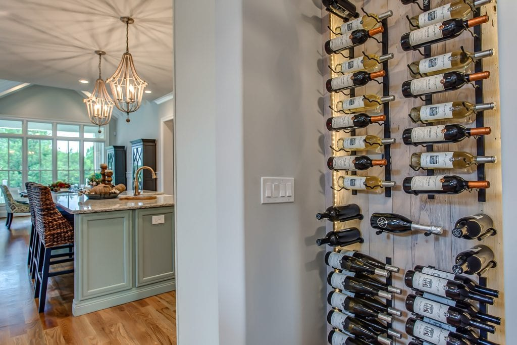 Modern Farmhouse Wine Wall Design