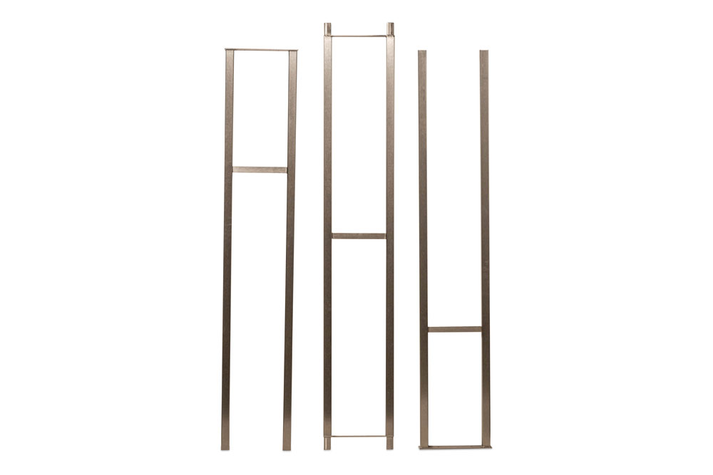 Wall Series Wine Rack Frame 12 in Brushed Nickel finish