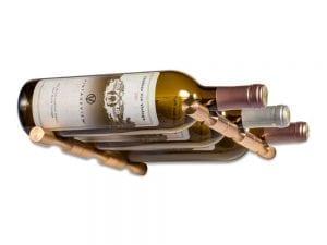 Vino Pins 3 Bottle Wine Rack Kit in Golden Bronze