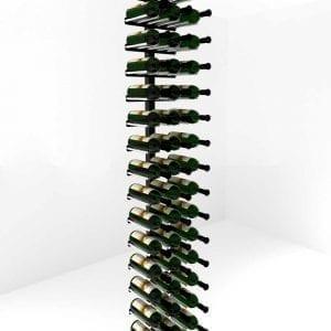 Vino Rails Post One Sided Floating Wine Rack Kit (60 bottles), Matte Black/Aluminum two-tone finish