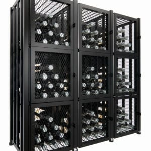 Case & Crate 2.0 Locker Kit (144 bottles, matte black finish)