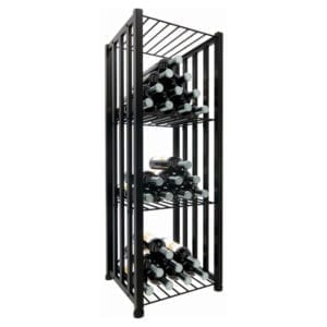 Case & Crate Bin, 48-bottle wine storage system in matte black