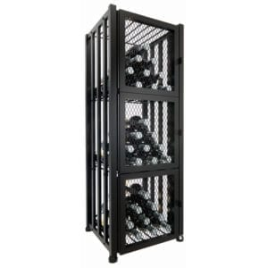 Case & Crate 2.0 Locker | 48 bottles of wine storage in matte black