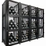 Case & Crate Locker with optional Extension unit in matte black finish