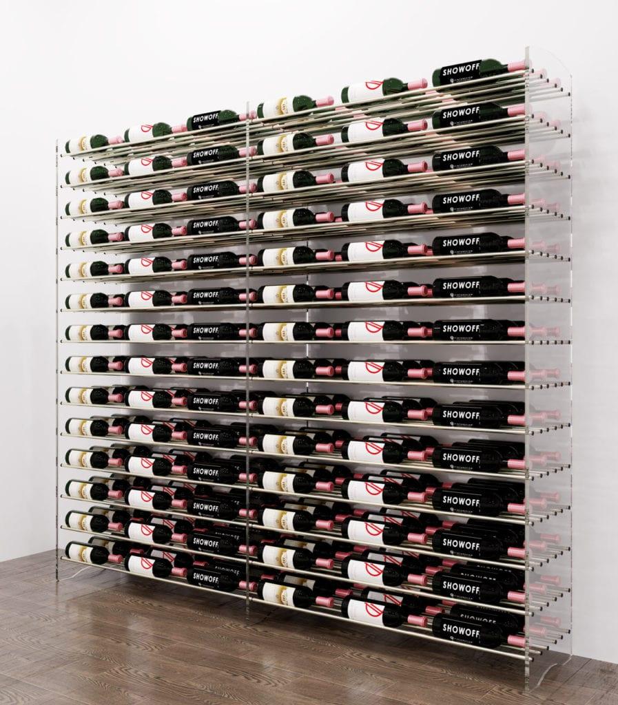 Evolution Wine Tower 6: Metal and Acrylic Freestanding Wine Rack Kit