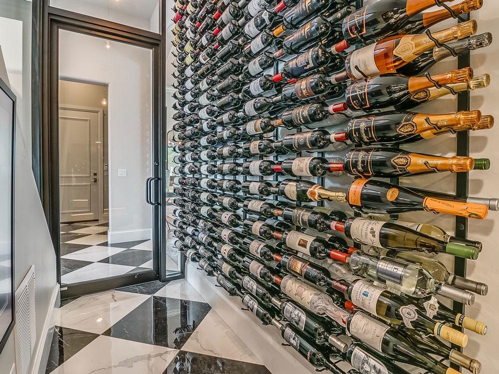 Custom wine cellar by Bill Roberts Custom Homes Edmond Oklahoma