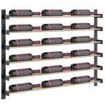 Evolution Wine Wall wall mounted metal wine rack system