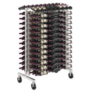 Island Display Rack 4 Freestanding Retail Metal Wine Rack
