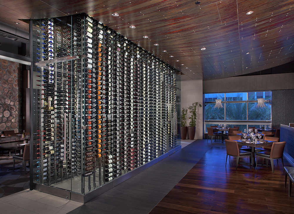 Tanzy Restaurant designed by Innovative Wine Cellar Designs